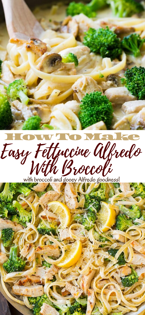 Easy Fettuccine Alfredo With Broccoli #food #lunchrecipe #vegan #vegetarianrecipe #easyrecipe