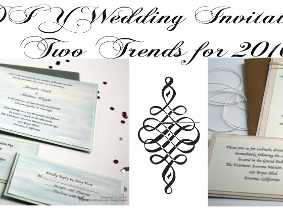 DIY Wedding Invitations Following 2 Trends for 2016