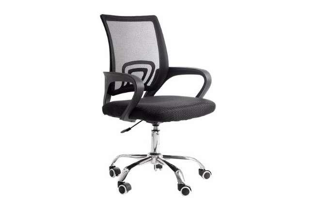 Cadeira De Escritório Com Base Cromada Prizi - 9055