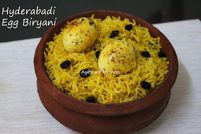 hyderabadi biryani is flavorful rice dish which is easy recipe recipe compared to others yummy tasty rice with egg or recipe with egg