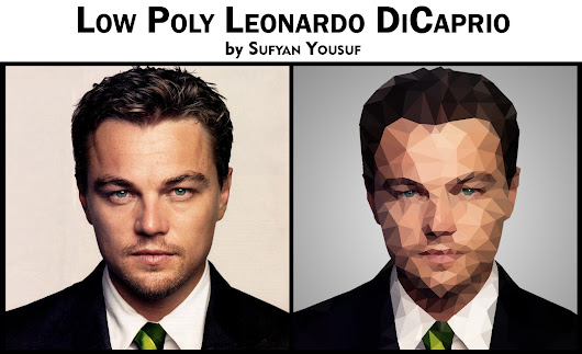 Low Poly of Leonardo DiCaprio by Sufyan Yousuf
