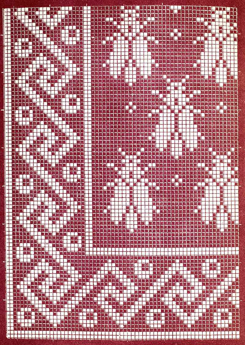 1901 catalog lace illustration, red