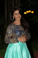 Nikki Galrani in Green Skirt  Top at Marakathamani music launch ~  Exclusive (68).JPG
