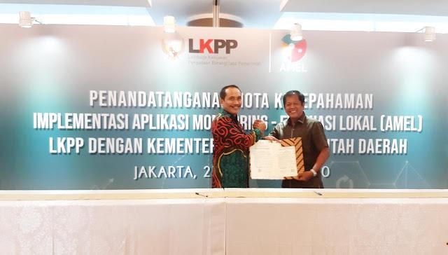 Bupati Kaswadi Teken MoU Implementasi AMEL Pengadaan Barang dan Jasa