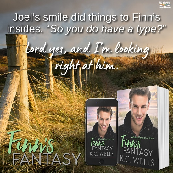 """Joel's smile did things to Finn's insides. """"So you do have a type?"""" Lord yes, and I'm looking right at him."""