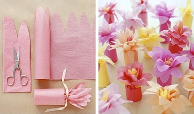 Tampilan cantik bungkus kado bentuk bunga