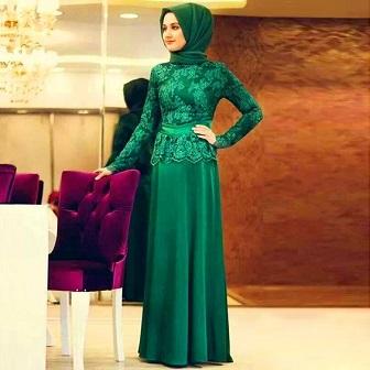 Model Kebaya Muslim Bahan Satin