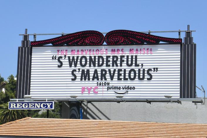 Marvelous Mrs Maisel season 3 FYC marquee billboard