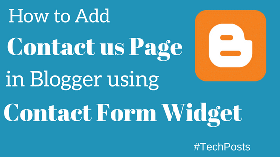 add contact form at contact us page in blogger