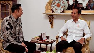 AHY Bertemu Empat Mata dengan Jokowi
