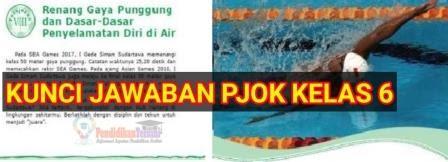 Kunci Jawaban Pjok Kelas 6 Kurikulum 2013 Materi Renang Gaya Punggung Dan Dasar Dasar Penyelamatan Diri Di Air Pendidikanterkini
