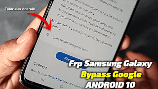 Samsung Galaxy A11 FRP Bypass Android 10