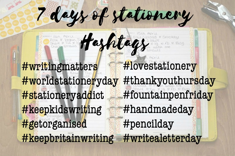lifestyle, natstatweek, national stationery week, hashtags