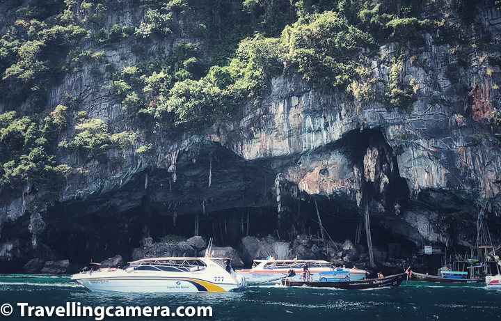 Then the boat hovers around Viking Cave. There will be a quick stopover at Monkey Bay to take pictures and then a  short stopover at Phi Phi Don for lunch. The tour ends with snorkelling at Khai Nok island.    2. Sightseeing around Phang Nga Bay    The James Bond Speedboat Tour lets you sit back and explore James Bond Island and its surrounding islands.    Start off with Panak Island, an island known for its iconic caves and hidden enclaves. Look out for the Mangrove Cave.