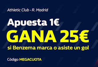 william hill Promoción MEGACUOTA Athletic vs Real Madrid 5-7-2020