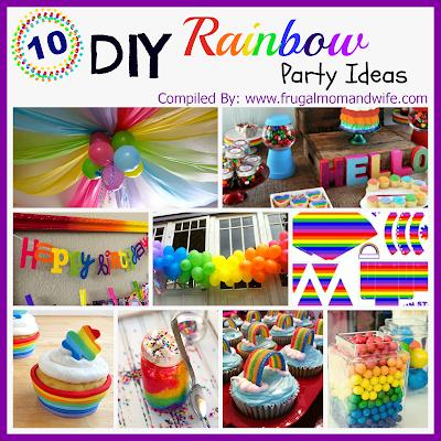 10 DIY Rainbow Party Ideas