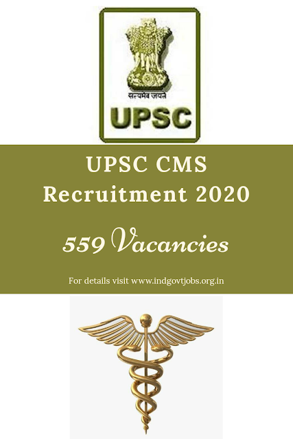 UPSC CMS Recruitment