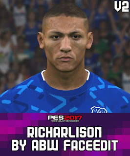 PES 2017 Faces Richarlison by ABW_FaceEdit