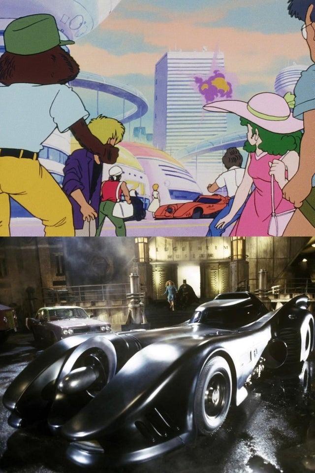 El Batimóvil salió en Dragon Ball Z y no lo habíamos visto