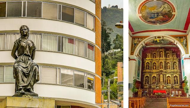 Bogotá: monumento a La Pola e Igreja de La Candelaria