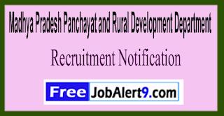 MPPRDD Madhya Pradesh Panchayat and Rural Development Department Recruitment Notification 2017  Last Date 03-06-2017