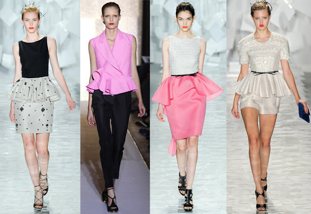 spring summer 2012 trends,spring 2012 trends,peplum skirt,fashion shows 2012,runway