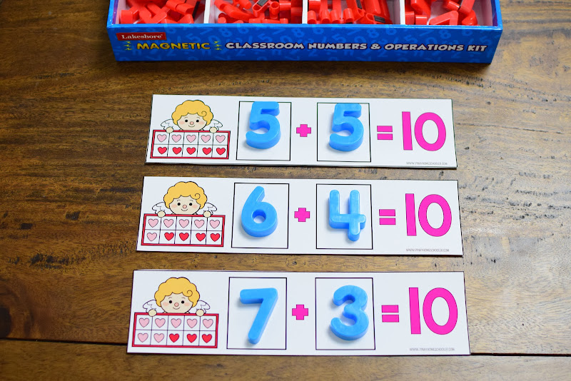 Valentine's Day-Themed Math Resource: Addition Up to 10