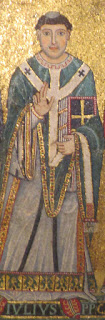 Mosaic depicting Pope Julius I