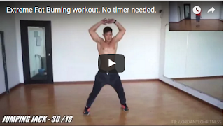 Extreme Fat Burning workout. No timer needed.