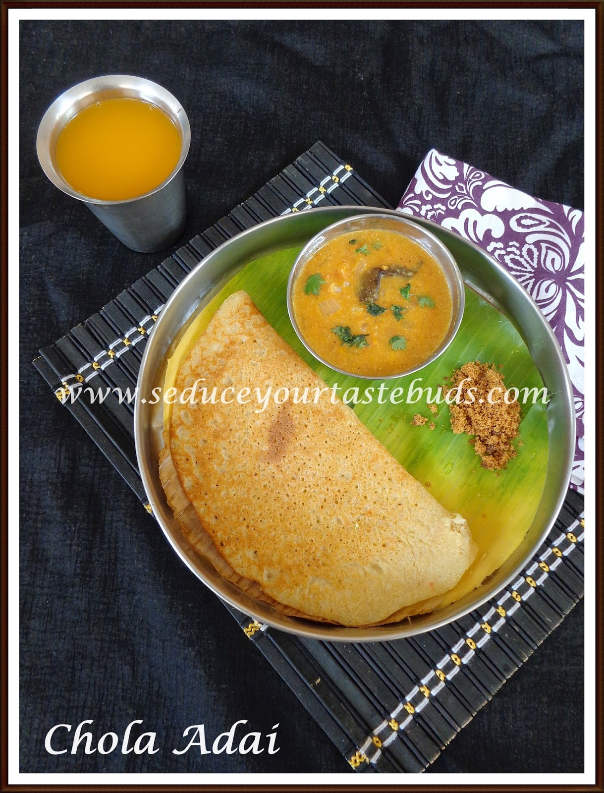 Chola adai easy breakfast recipe seduce your tastebuds so it makes for a quick breakfast if you remember to soak the grains the previous nightor you can soak it in the morning and use the batter for dinner forumfinder Gallery