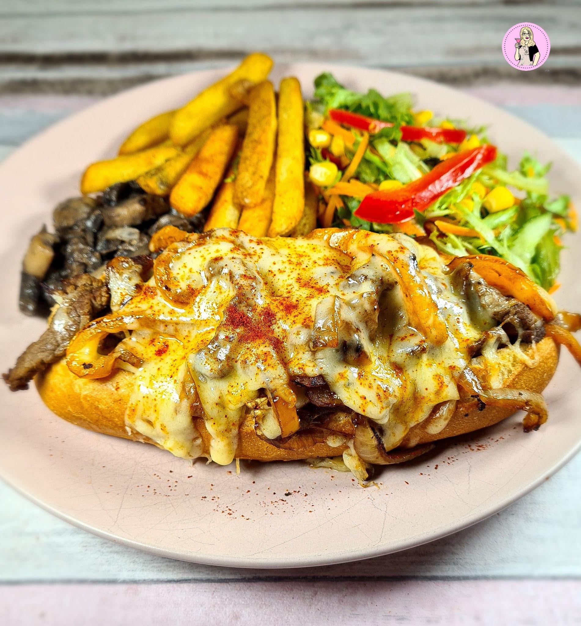 Philly Cheesesteak Sandwich Recipe | Slimming Friendly
