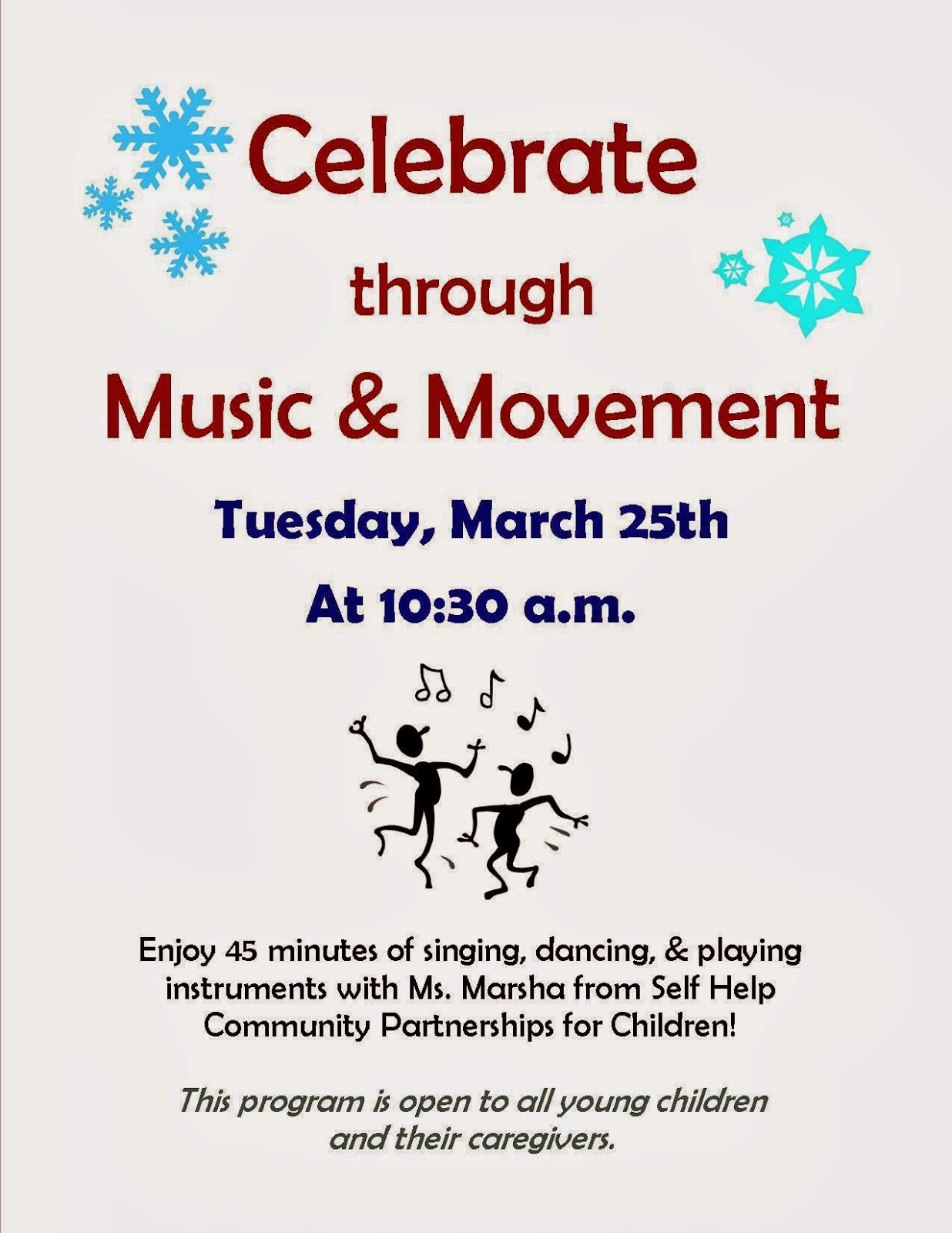 Celebrate through music and movement