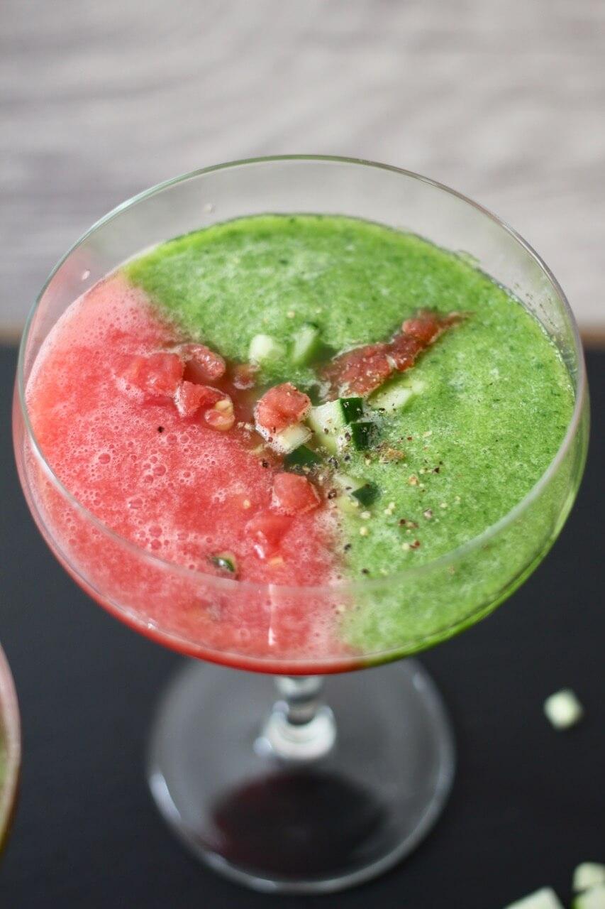 Melonen-Gurken-Kaltschale