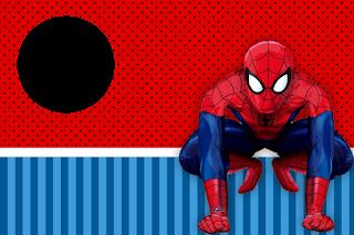 Para hacer Invitaciones, Tarjetas, Marcos o Etiquetas para Imprimir Gratis de Spiderman.