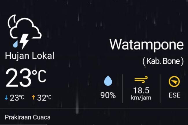 Siapkan Selimut Saat Sahur! BMKG Prediksi Hujan Lokal di Bone Dini Hari Nanti