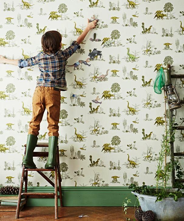 Interactive Magnetic Dino Wallpaper