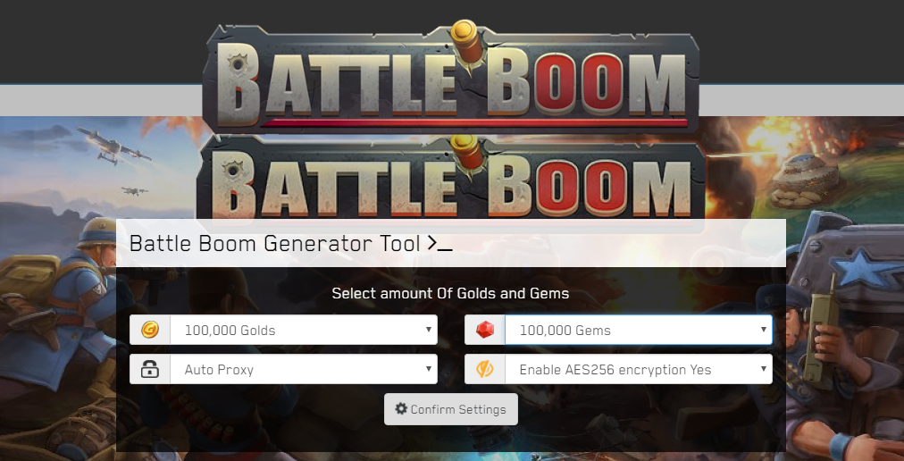 Battle Boom Hack Unlimited Golds, Gems Android/iOS