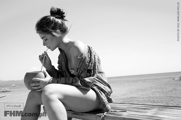 Andi Eigenmann FHM May 2016 - black and white