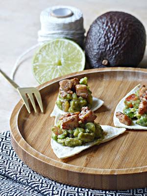 Toast guacamole et poulet Teriyaki