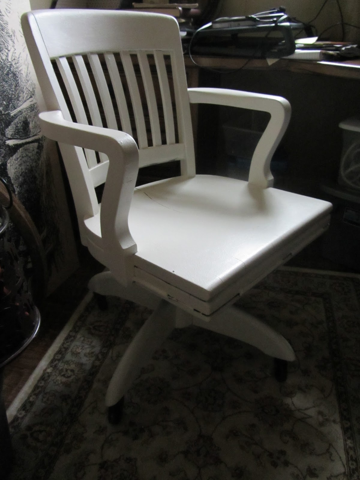 Airgo Swivel Desk Chair Ivory Sherpa Double Hang A Round Pottery Barn White  Home Decor