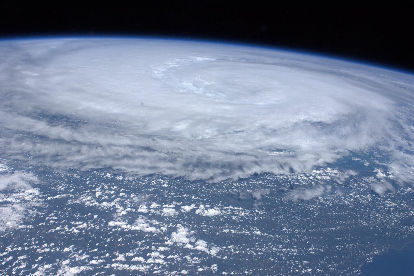 Historical NASA Photograph of 2011 Hurricane Irene Over New York  8x10