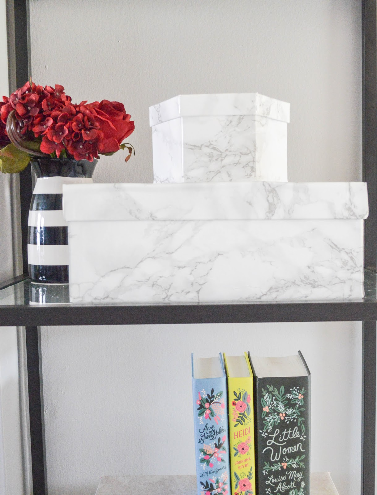 Re-Purpose your shoe boxes into pretty storage