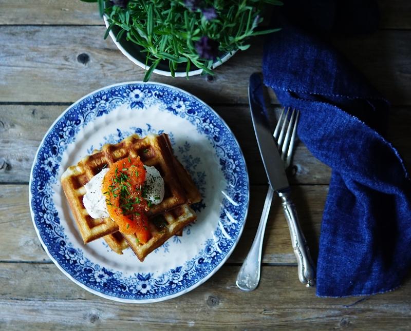 croissant, vohveli, waffle