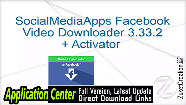 SocialMediaApps Facebook Video Downloader 3.33.2 + Activator