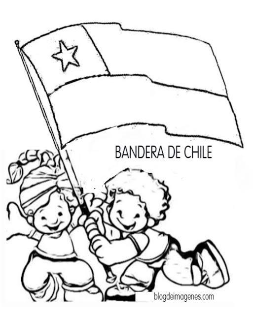 COLOREAR BANDERA CHIILENA