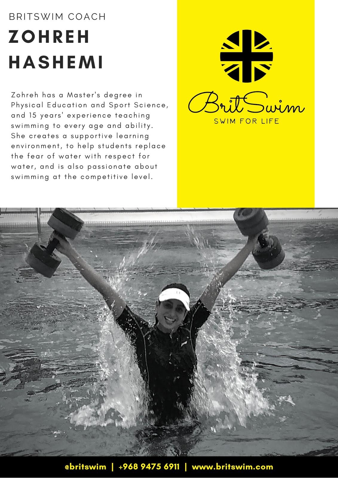 BritSwim learn to swim Muscat Oman swimming lessons teachers