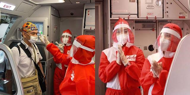 Air Asia Memperkenalkan Pakaian Seragam Seakan PPE Tersendiri