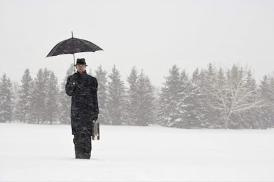Civil servant in snow