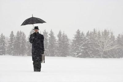 Civil servant in snow
