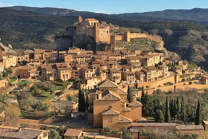 Vista del pueblo de Alquézar